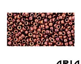 DARK BRONZE (222): 11/o Toho Japanese Seed Beads (10 grams)