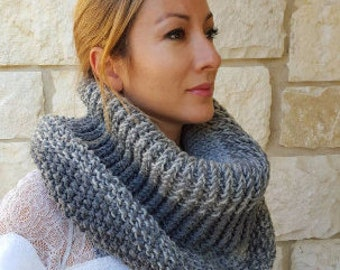 Free shipping gray ombre neck cowl