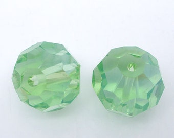 10 pieces Green Crystal Quartz Faceted Round Beads 12mm