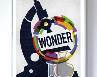 13 x 17 - Wonder Science Poster Art Print - Wall Art - Stellar Science Series™ -  Science Poster Print