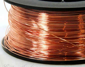Copper Wire, 24 Gauge, Dead Soft, Solid Copper Wire, Jewelry Quality Copper Wire, Jewelry Wire Wrapping, High, Sold in 50 Ft. Length, 010