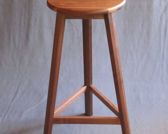 Handcrafted Solid Wood Walnut Stool for Gift or Home