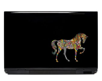 Decorative Horse Sticker psychedelic sticker Laptop Sticker Car Window Decal colorful horse FREE SHIPPING ornate horse decal notebook decal