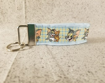 Tom and Jerry Ribbon Keychain