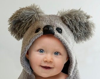 Hooded Towel / Koala Bear / Baby Gift / Hooded Towel Baby / Animal Towel / Personalized / Baby / Toddler