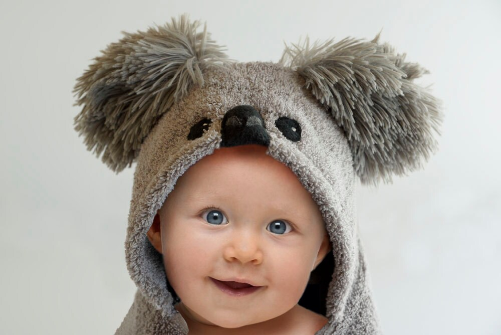 Hooded towel koala bear baby gift hooded towel baby zoom negle Image collections