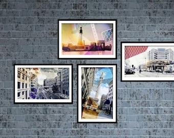 LONDON. Wall Art Prints,Set of 4 Prints. Paint, photography set, london uk photography, architecture, travel, collection,