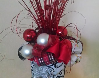 Extra Large Christmas Tree Topper - Christmas Tree Top Hat - Tree Topper Bow - Top Hat Centerpiece - Tree Topper - Top Hat -