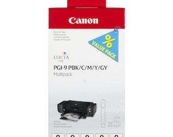 Sell multipack Canon PGI - 9 black pigmented ink / Cyan / Magenta / yellow / gray 5 cartridges Pgi-9: Pbk + C + M + Y GY PIXMA PRO9500
