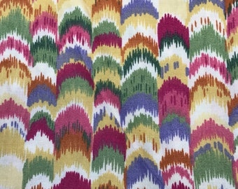 2 2/3 Yards of Vintage Colorful Abstract Print Cotton Fabric