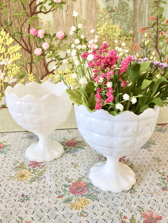 Milk glass bowl milk glass vase candy dish wedding white bowls zoom reviewsmspy