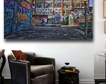 Five pointz NYC Graffiti Canvas Poster Print Wall Art 36 x 24 Five pointz NYC