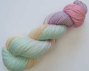 Superwash merino and bamboo blend yarn in Love Hearts colourway hand dyed knitting wool