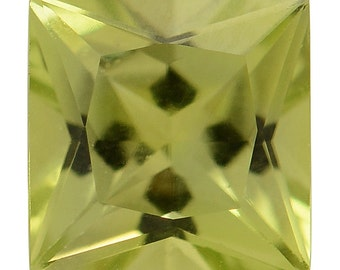 Hebei Peridot Loose Gemstone Square Cut 1A Quality 6mm TGW 1.20 cts.
