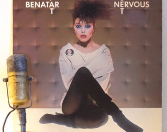 "Pat Benatar Vintage Vinyl LP Record 1980s Classic Rock and Roll Guitar Girl Power ""Get Nervous"" (1982 Chrysalis w/""Shadows Of The Night"")"