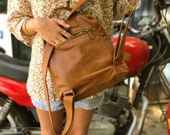 Sale!!!  Brown leather backpack backpack purse leather bag women leather bag women's backpack handmade rucksack - Batia Bag