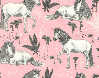 Unicorn Fabric on Pink! by Timeless Treasures, 100% Cotton, Sold By The Yard, Great for Quilting, Crafting, Sewing!