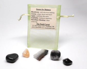 Stones For Balance Healing Pouch