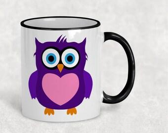 Coffee Mug, Owl Mug, Friend Gift, Gift For Her, Gift For Him, Wife Owl Gift, Girlfriend Owl Gift, Teacher Gift, Owl Gift, Cute Owl Mug