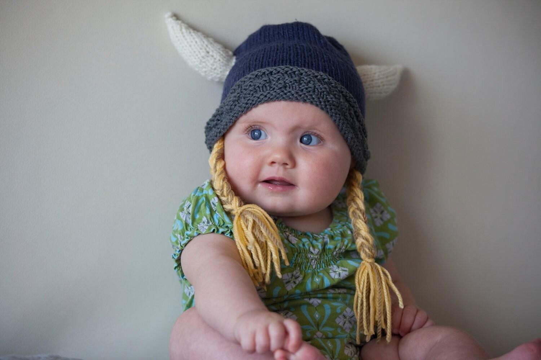 Wikinger Hut Wikinger-Helm Baby Wikinger Mütze mit Hörnern