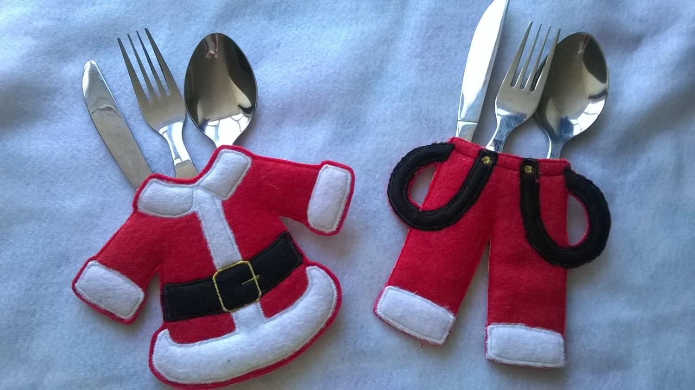 Sostenedor de Navidad cubiertos porta cubiertos para ajuste