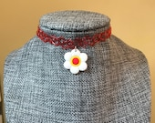 Red Tattoo Chokers, Flowe...