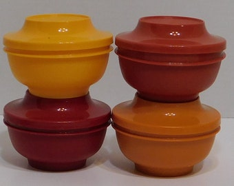 Tupperware Serve N Seal Bowls Set of Four Harvest Colors