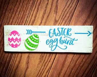 Rustic Easter Egg Hunt Sign