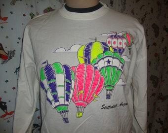 Vintage Scottsdale Arizona Balloon Festival Tourist Long Sleeve Shirt Size Medium M