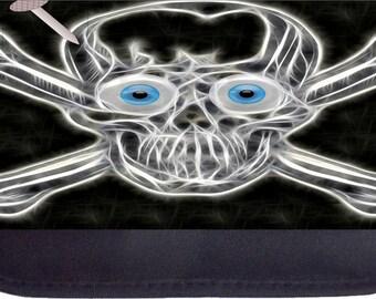 Skull and Crossbones  - Black Pencil Bag - Pencil Case