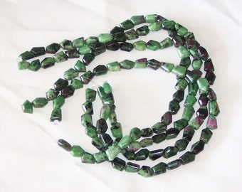 Ruby Zoisite freeform beads 15x10mm
