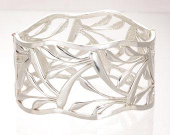 Silver Bracelet, Sterling Bangle, Silver Cuff
