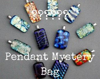 Dichroic Glass Pendant Mystery Bag - Grab Bag - Surprise Jewelry - Birthday Gift For Her - Gift For Women - Necklace For Women