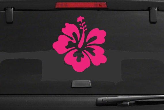 Hibiscus Decal *Choose Size & Color*  Car Decal Hibiscus Flower Vinyl Sticker - Car Truck Laptop Macbook Decals Etc. Hawaii Flower