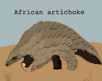 African Artichoke Pangolin Mug/Water Bottle