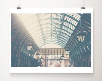 London photography London print London decor Covent Garden photograph architecture photography British wall art mint green arches
