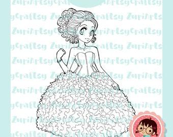 Digital Stamp, Alicia, VX años, Scrapbooking Digital Stamp, Instant Download, Zuri Artsy Craftsy