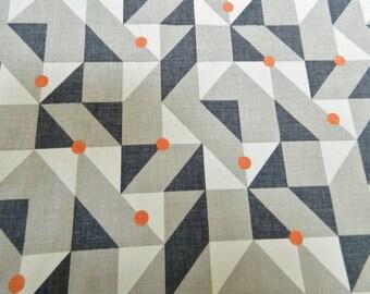 KIRKBY DESIGNS 'Puzzle' Burnt Orange-Decorative Throw Pillow Euro Sham Lumbar Pillow Cover / Both Sided / Designer Cotton Fabric / England