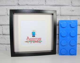 ADVENTURE TIME - FINN - Framed minifigure - Awesome quirky art work