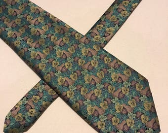 Vintage BHS apples and pears polyester tie