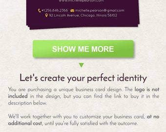 Script business card etsy reheart Image collections
