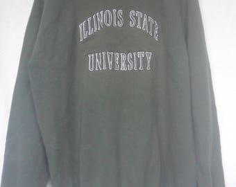 Vintage Illinois State University by Champion Sweatshirt//Made US//Sportswear//Big logo