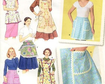 Sz - S/M/L - Simplicity 4282 - Misses' Aprons - Five Styles in One Package - Design by Teri