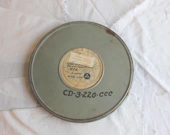 Vintage Metal Film Reel Storage Cans (various sizes)
