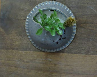 Wee Air Planter Set of 2 - Handmade Stoneware Pottery Ceramic - Ash Grey and White - Vines