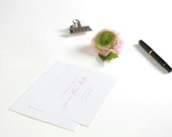 Save the date postcard including envelope - modern