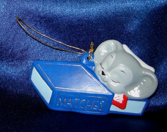 Mouse in Matchbox Ceramic Ornament - Mouse Ornaments - Mice Ornaments - Christmas Ornaments