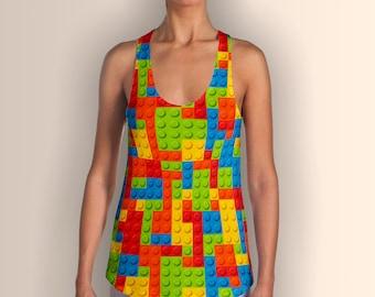 Lego Bricks, Women's Racerback Tank