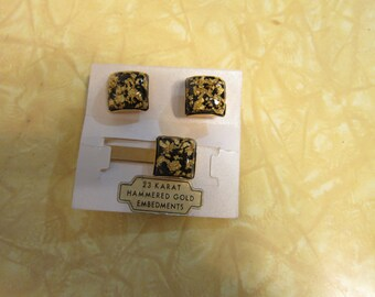 Gorgeous Cufflink and Tie Bar 1950s Set on Original Sales Card