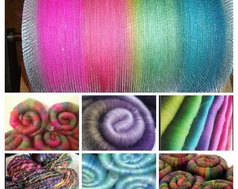 Fiber Of The Month Club / 4 month subscription / Tell me your favorite color combos